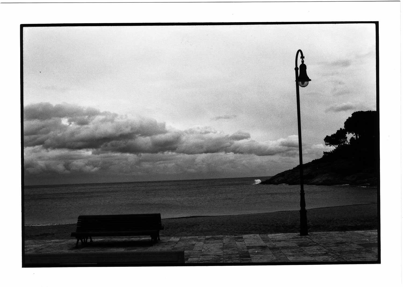 La plage aux gris